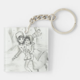 Old Fashioned Skaters Keychain