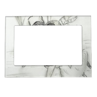 Old Fashioned Skaters Magnetic Picture Frame