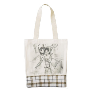 Old Fashioned Skaters Zazzle HEART Tote Bag