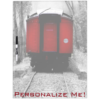 Old Fashioned Steam Train with Red Caboose Dry-Erase Board