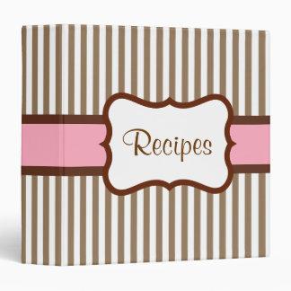 Old Fashioned Striped Recipe Binder