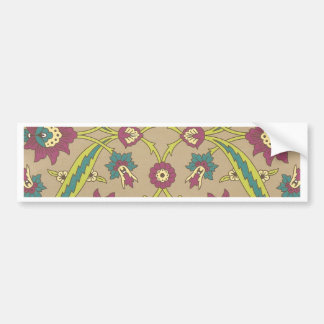 Old Fashioned Style Floral Bumper Sticker