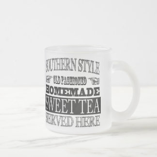 Old Fashioned Sweet Tea Vintage Look Advertising Frosted Glass Coffee Mug