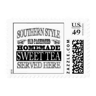 Old Fashioned Sweet Tea Vintage Look Advertising Postage