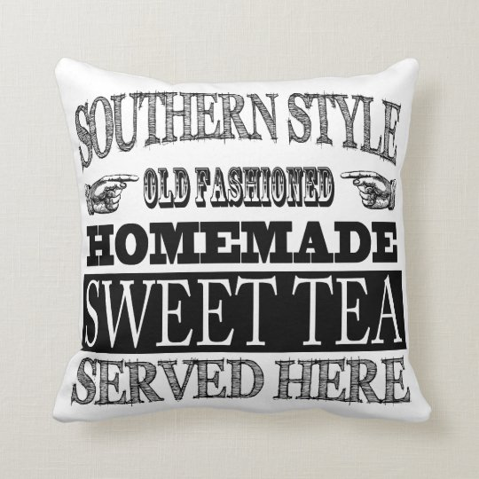 Old Fashioned Sweet Tea Vintage Look Advertising Throw Pillow