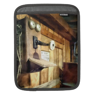 Old Fashioned Telephone in Office iPad Sleeves