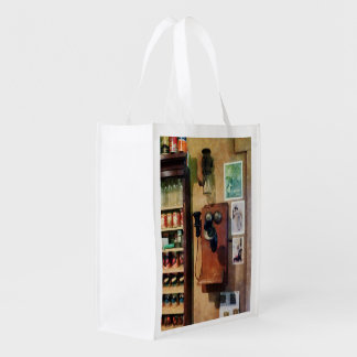 Old Fashioned Telephone Reusable Grocery Bag