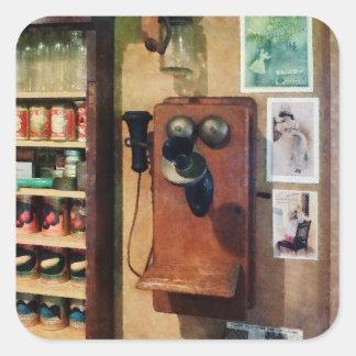 Old Fashioned Telephone Square Sticker