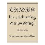 "[ Thumbnail: Old Fashioned ""Thanks"" Postcard ]"