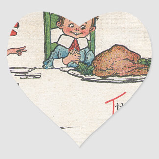 old fashioned thanksgiving heart sticker