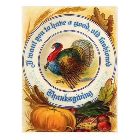Old Fashioned Thanksgiving Postcard
