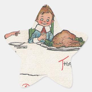 old fashioned thanksgiving star sticker