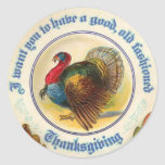 Old Fashioned Thanksgiving Sticker