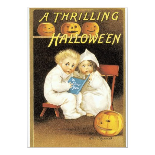 Old Fashioned Thrilling Halloween Party Invitation