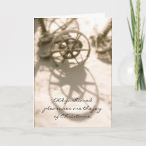 Old Fashioned Tractor Christmas Memories Holiday Card