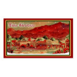 Old Fashioned Tubac Christmas Gift Tags Double-Sided Standard Business Cards (Pack Of 100)
