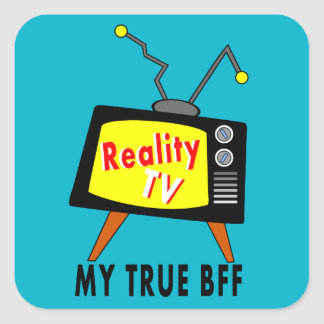 Old-fashioned TV image My BFF Reality TV Stickers