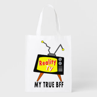 Old-fashioned TV Set My BFF Reality TV Reuseable Grocery Bag