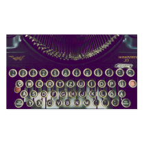 typewriter, vintage, old fashioned, retro, funny, geek, keyboard, nostalgia, 50s, 60s, old school, classic, fantasy, old, unique, business card, Business Card with custom graphic design