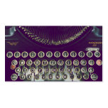 old fashioned typewriter business cards