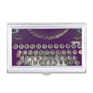 old fashioned typewriter case for business cards