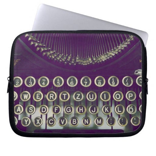 old fashioned typewriter computer sleeve