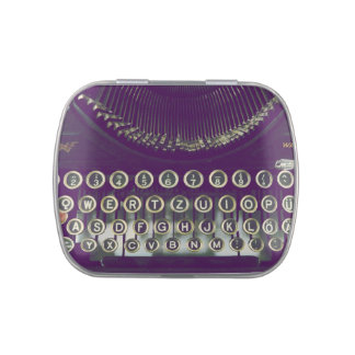 Old fashioned typewriter jelly belly tin