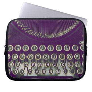 old fashioned typewriter laptop computer sleeves
