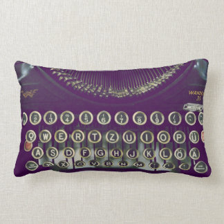 Old fashioned typewriter pillows