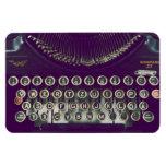 old fashioned typewriter rectangular magnet