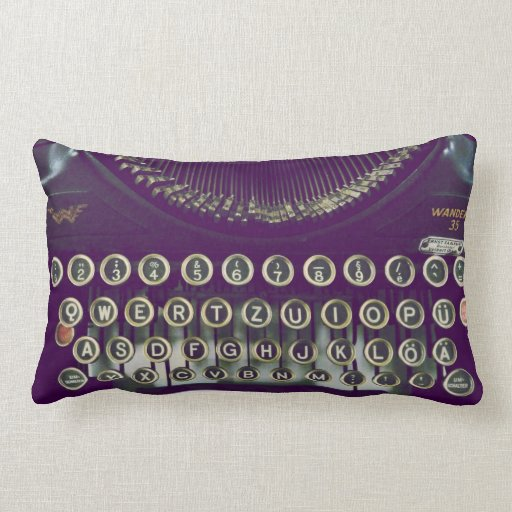 Should I Throw Away Old Pillows : Old fashioned typewriter throw pillow Zazzle