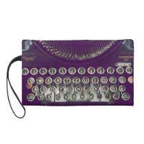 typewriter, old fashioned, retro, keyboard, wristlet, vintage, 50s, 60s, old school, classic, funny, geek, fantasy, old, nostalgia, unique, best selling, most popular, bagettes bag, [[missing key: type_bagettes_ba]] with custom graphic design