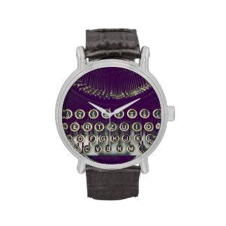 Old fashioned typewriter wristwatch