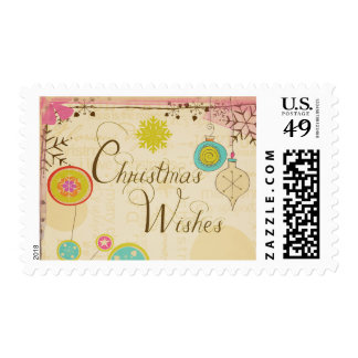Old Fashioned Typography Christmas Postage