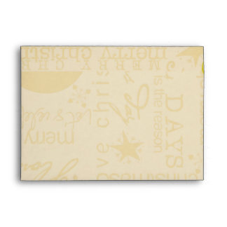 Old Fashioned Typography Snowflakes Envelope