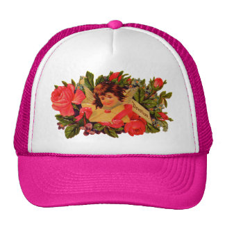 Old Fashioned Valentine Cupid Trucker Hat