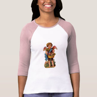Old Fashioned Valentine Cupid With Roses T-Shirt