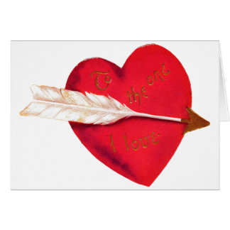 Old Fashioned Valentine's Heart Card