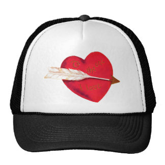 Old Fashioned Valentine's Heart Trucker Hat