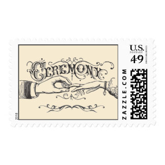 Old fashioned Victorian Ceremony Postage