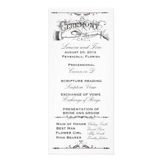 Old fashioned Victorian Ceremony Program