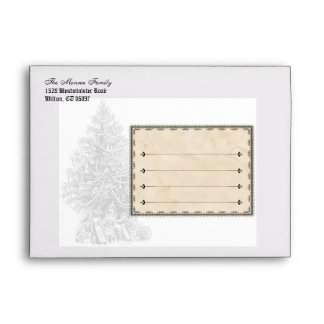 Old Fashioned Victorian Holiday Envelope