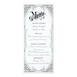 Old fashioned Victorian Menu Card