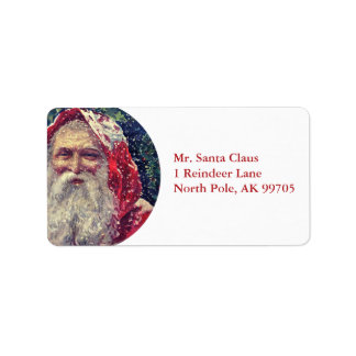 Old-fashioned Victorian Saint Nicholas Label