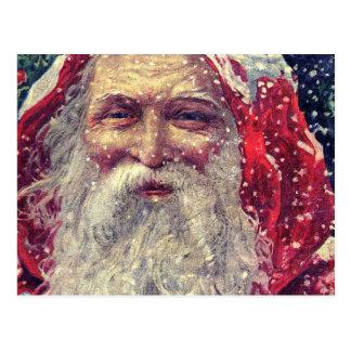 Old-fashioned Victorian Saint Nicholas Postcard