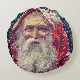 Old-fashioned Victorian Saint Nicholas Round Pillow