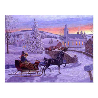 Old Fashioned Vintage Christmas Postcard