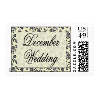 Old Fashioned Vintage Damask design Postage