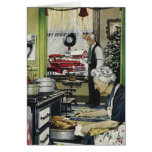 Old Fashioned Vintage Home Kitchen Christmas Card