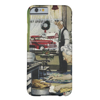 Old Fashioned Vintage Home Kitchen Christmas Barely There iPhone 6 Case